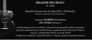Benefiční koncert 18.10. 2019 v 19:30 hodin